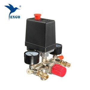 125psi 1 приклучок за притисок на компресорот на компресорот со регулаторни мерачи